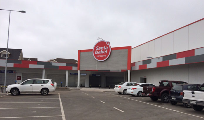 Habilitación Supermercado Santa Isabel La Llavería, Maipú, Santiago